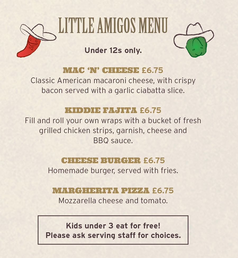 Little Amigos Menu
